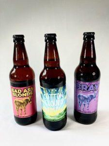 3 x 500ml bottles of Donkeystone Brewing Co. craft ale.