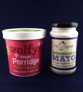 Rhubarb *& Ginger Vegan Porridge & Organic Vegan Mayo