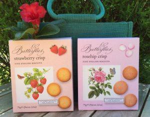 Strawberry crisp fine english biscuits, Rosehip crisp fine english biscuits