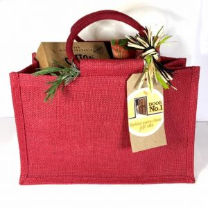 Vegan Hamper - Jute Gift Bag - Vegan Food Hamper - Vegan Gifts