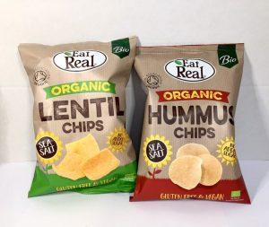 lentil chips, hummus chips