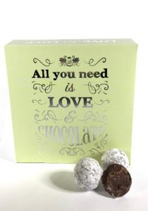 all you need is love chocolate truffles