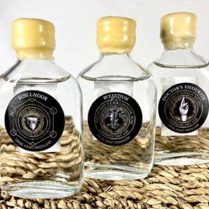 3 x 5cl bottles of Grail Craft Distillery Gin